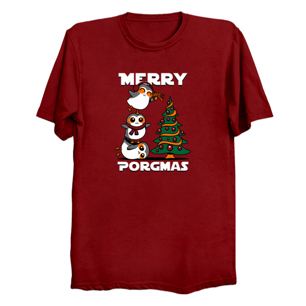 Merry Porgmas - Star Wars Christmas T-Shirts