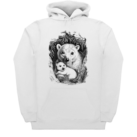 Polar bear family - Hoodies by Elinakious
