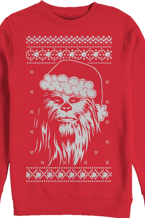 Santa Hat Chewbacca - Star Wars Christmas Sweaters