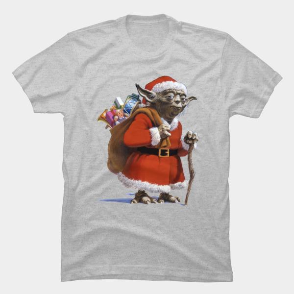 Santa Yoda Christmas T-Shirts