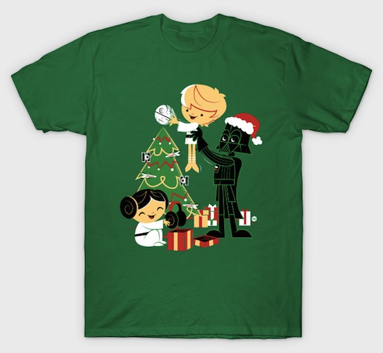 Silent Night Jedi Knight - Star Wars Christmas T-Shirts