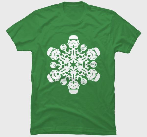 Stormtrooper Snowflake - Star Wars Xmas Tee