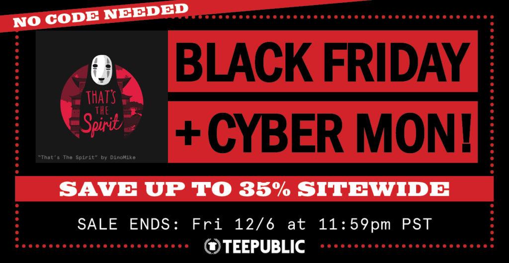 TeePublic Black Friday & Cyber Monday Sale