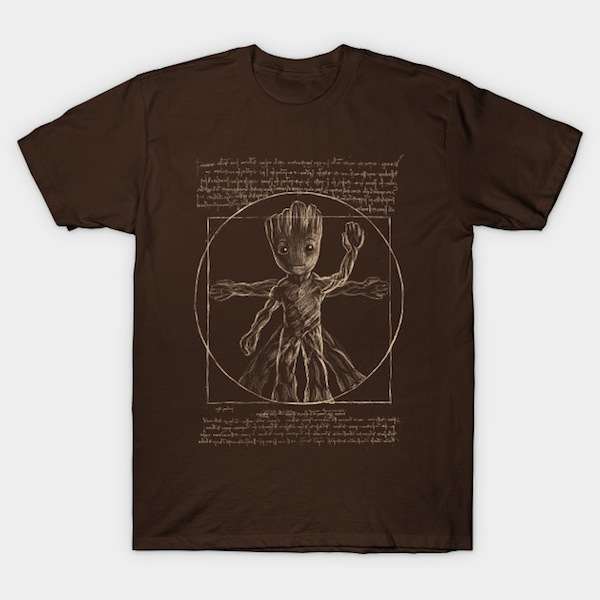 Vitruvian tree - Baby Groot T-Shirts