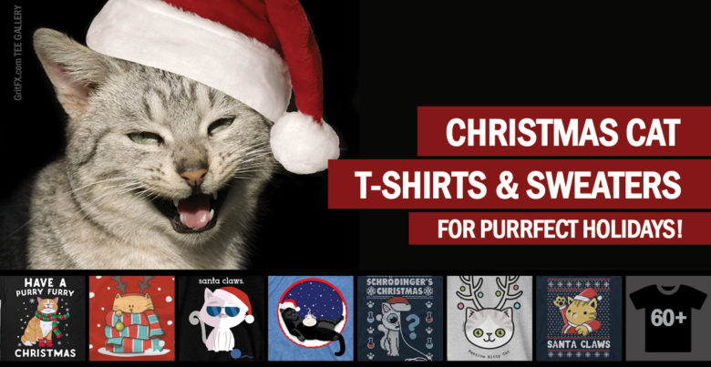 Xmas Cat T-Shirts & Sweaters