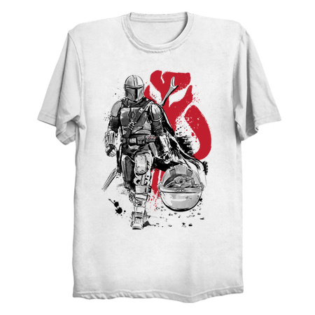 Lone Hunter and Cub - The Mandalorian T-Shirts by Dr.Monekers