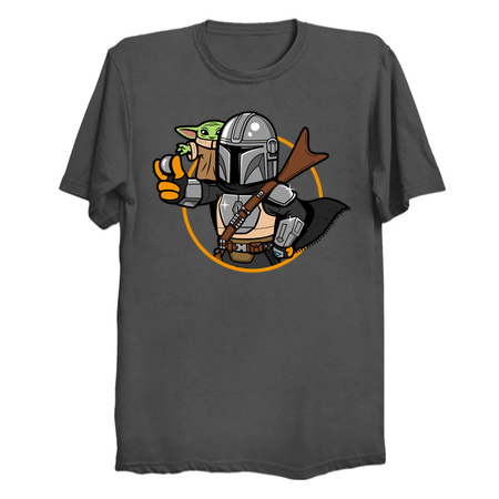 Vault Mando and Child - The Mandalorian T-Shirts by Boggs Nicolas