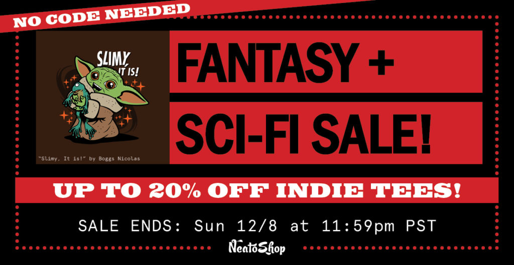 20% OFF sci-fi and fantasy tee