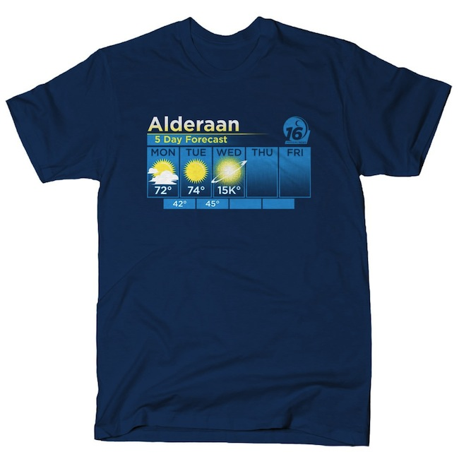 Alderaan 5 Day Forecast T-Shirts Funny