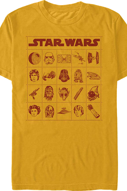 Bingo Card Star Wars T-Shirt