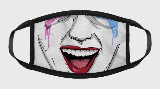 Clown Princess of Crime - Pop Culture Face Masks