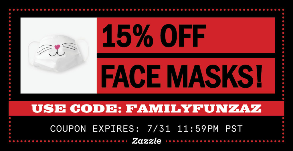 15% OFF GRAPHIC FACE MASKS!