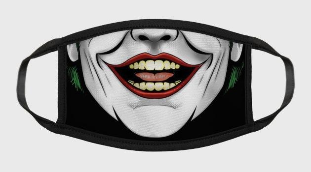 Jack's Joker Mouth Face Mask