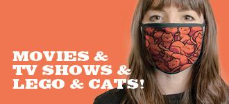 Pop Culture Face Masks - Movies, TV, Lego & Cats