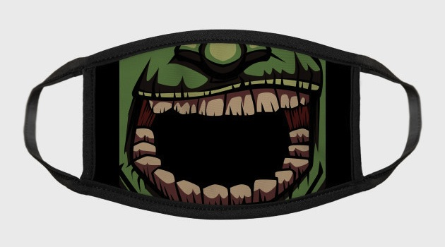 Zombie Mouth Teeth Face Mask