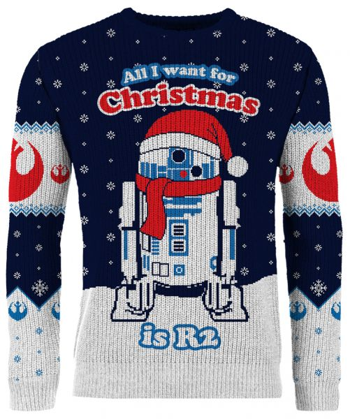 All I Want For Christmas Is R2 Knitted Christmas Sweater