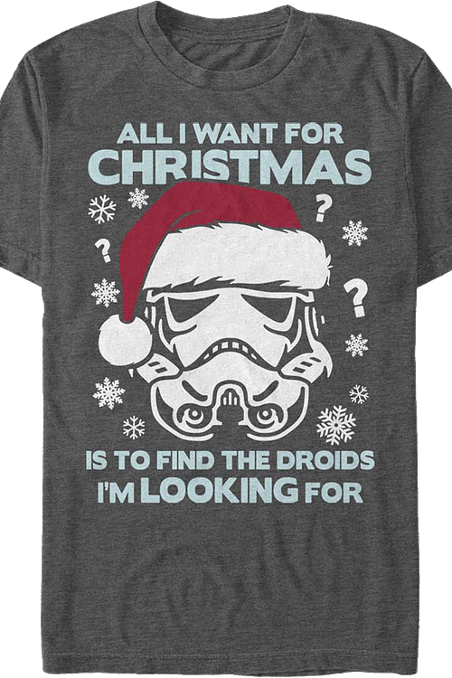 All I Want For Christmas Star Wars T-Shirt