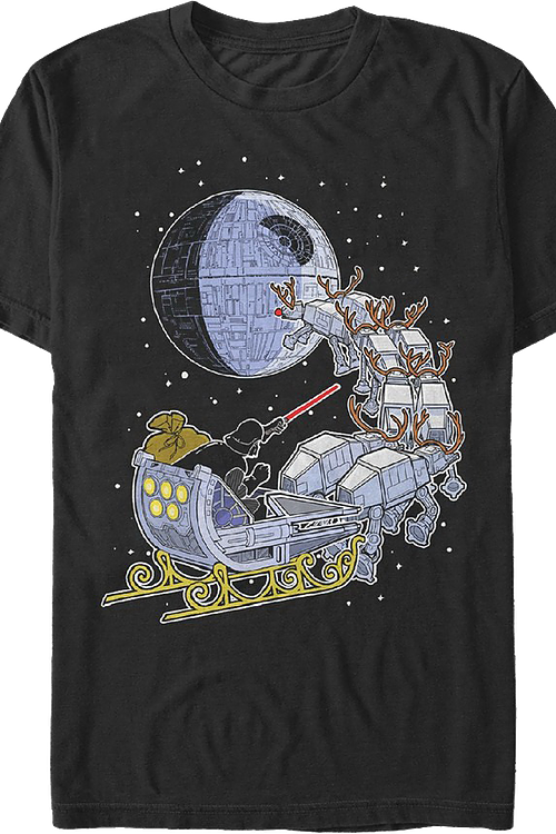 Darth Vader Christmas Sleigh Star Wars T-Shirt
