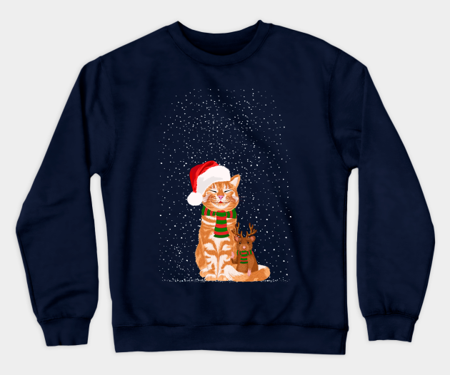 Christmas Buddies - Christmas Cat Sweatshirt