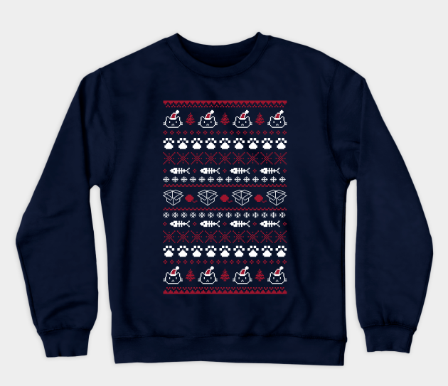 Purrfect Christmas Cat Sweater – by paulagarcia