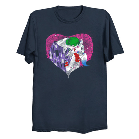 Suicide Kiss - Joker & Harley Quinn T-Shirts